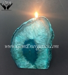 Agate End Candle Holders