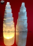 Selenite Lamps With Cord And Bulb